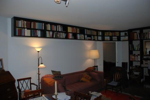 meubelmakerij meubelmaker amsterdam cabinet maker cabinetmaker custom furniture op maat gemaakt maatwerk meubels zwarte boekenkast zwevende boekenkast