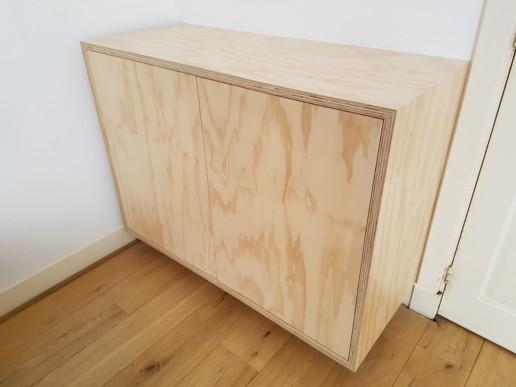 zwevend greeploos dressoir underlayment, meubelmaker amsterdam cabinetmaker custom handmade furniture op maat gemaakt maatwerk meubels