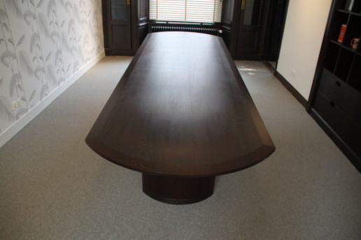 massief wenge vergadertafel, meubelmaker amsterdam cabinetmaker custom handmade furniture op maat gemaakt maatwerk meubels