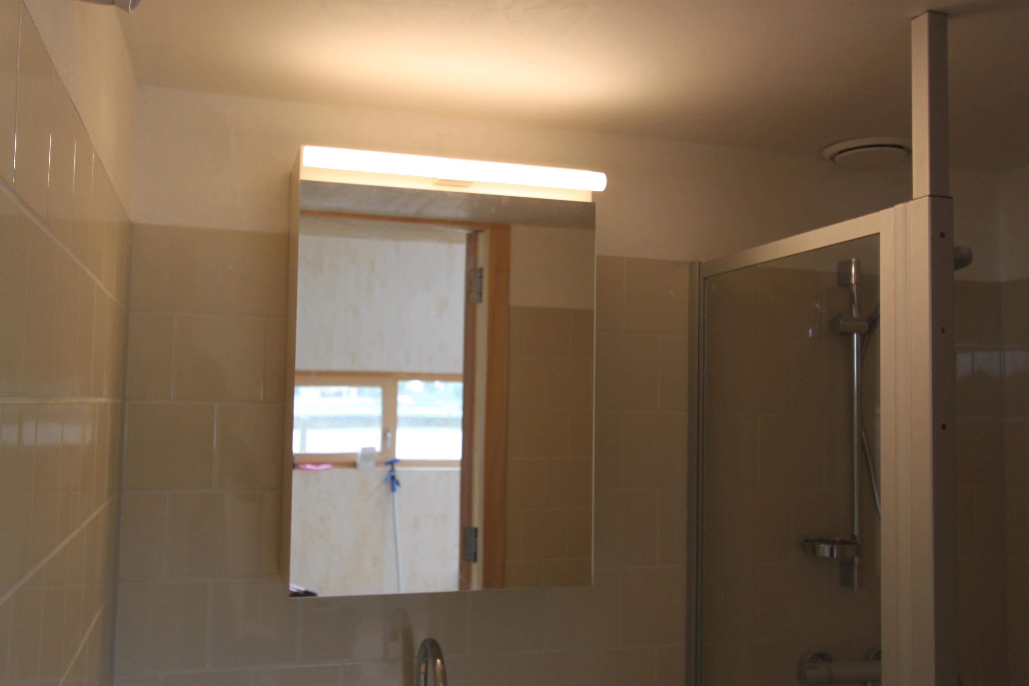 Badkamerkastje met spiegel d w