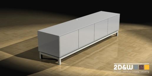 rendering render dressoir meubelmaker amsterdam cabinetmaker custom handmade furniture op maat gemaakt maatwerk meubels