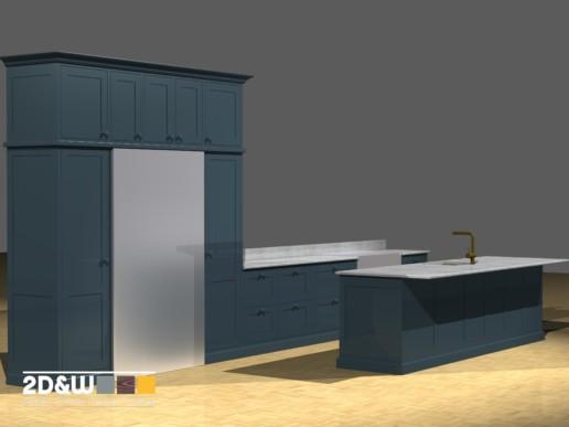 rendering render keuken meubelmaker amsterdam cabinetmaker custom handmade furniture op maat gemaakt maatwerk meubels