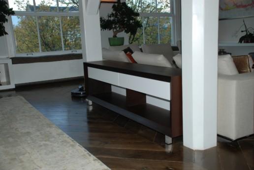 meubelmakerij meubelmaker amsterdam cabinet maker cabinetmaker custom furniture op maat gemaakt maatwerk meubels dressoir bruin wit