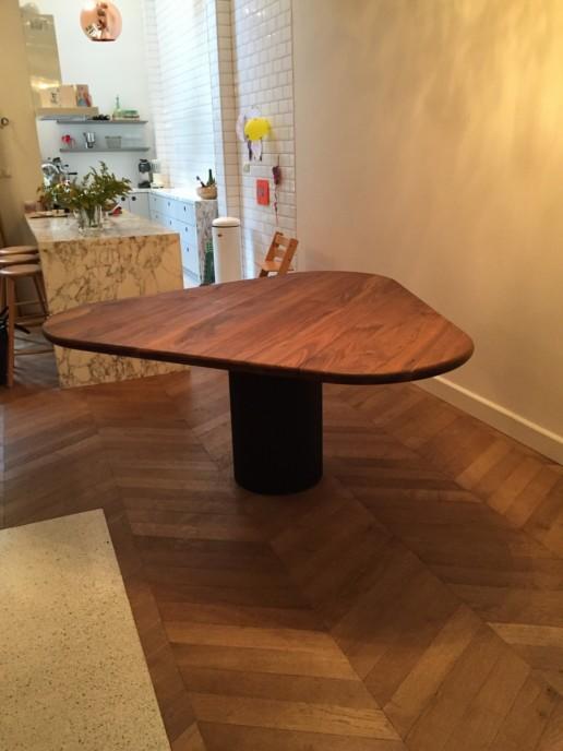 meubelmakerij meubelmaker amsterdam cabinet maker cabinetmaker custom furniture op maat gemaakt maatwerk meubels driehoek tafel massief bamboo