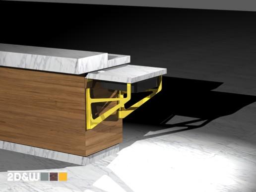 rendering render extra werkblad kassa meubelmaker amsterdam cabinetmaker custom handmade furniture op maat gemaakt maatwerk meubels