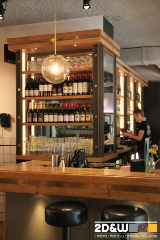 bar cafe achterkast meubelmaker amsterdam cabinetmaker custom handmade furniture op maat gemaakt maatwerk meubels