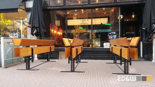 klaptafel cafe detail poot meubelmaker amsterdam cabinetmaker custom handmade furniture op maat gemaakt maatwerk meubels