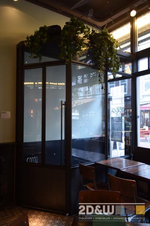 bar voordeur entree staal glas meubelmaker amsterdam cabinetmaker custom handmade furniture op maat gemaakt maatwerk meubels