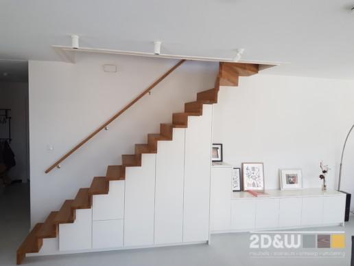 trap zwevend zwevendetrap eikenhout kast dressoir meubelmaker amsterdam cabinetmaker custom handmade furniture op maat gemaakt maatwerk meubels