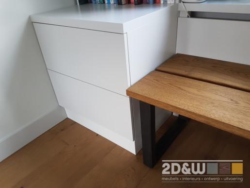 Vensterbank meubel bank ladekast boekenkast meubelmaker amsterdam cabinetmaker custom handmade furniture op maat gemaakt maatwerk meubels
