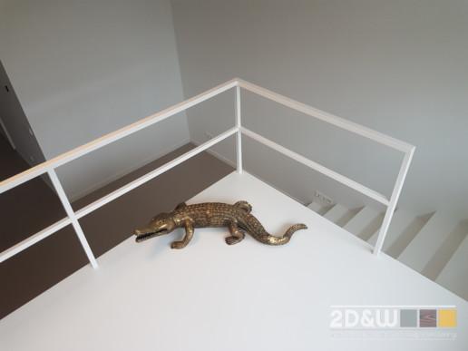 vide underlayment wit push open luietrap slaapkamer studeerkamer hekwerk opbergruimte meubelmaker amsterdam cabinetmaker custom handmade furniture op maat gemaakt maatwerk meubels