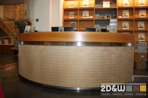meubelmaker amsterdam cabinetmaker custom handmade furniture op maat gemaakt maatwerk meubels archief balie haarlem noord holland hout buigtriplex rond